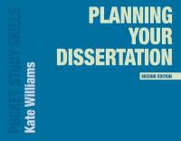 Planning Your Dissertation 2nd ed. 2018