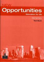 Opportunities Global Elementary Test CD Pack, WITH Opportunities Elementary Global Test Book AND Audio CD