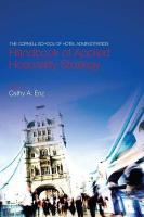 Cornell School of Hotel Administration Handbook of Applied Hospitality   Strategy
