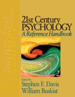 21st Century Psychology: A Reference Handbook: A Reference Handbook