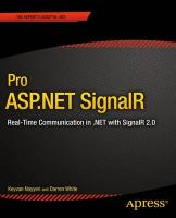 Pro ASP.NET SignalR: Real-Time Communication in .NET with SignalR 2.1 1st ed.