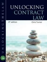 Unlocking Contract Law 4th New edition