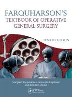 Farquharson's Textbook of Operative General Surgery 10th New edition