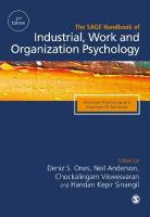 SAGE Handbook of Industrial, Work & Organizational Psychology: V1: Personal Psychology and Employee Performance 2nd Revised edition, Volume 1, Personal Psychology and Employee Performance