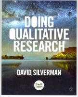 Doing Qualitative Research: A Practical Handbook 4th Revised edition