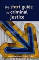 short guide to criminal justice