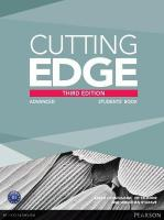 Cutting Edge Advanced New Edition Students' Book and DVD Pack 3rd edition