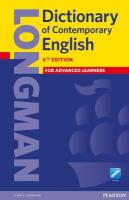 Longman Dictionary of Contemporary English 6 Cased and Online New edition