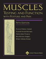 Muscles: Testing and Function, with Posture and Pain: Includes a Bonus Primal Anatomy CD-ROM 5th revised international ed