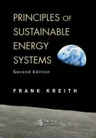 Principles of Sustainable Energy Systems 2nd New edition