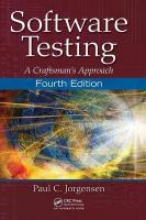 Software Testing: A Craftsman's Approach, Fourth Edition 4th New edition