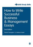 How to Write Successful Business and Management Essays 2nd Revised edition