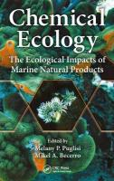 Chemical Ecology: The Ecological Impacts of Marine Natural Products