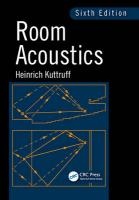 Room Acoustics 6th New edition
