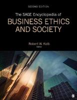 SAGE Encyclopedia of Business Ethics and Society 2nd Revised edition