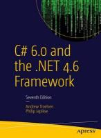 C# 6.0 and the .NET 4.6 Framework 2015 7th ed.