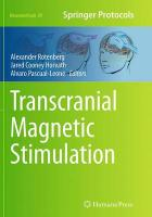Transcranial Magnetic Stimulation Softcover reprint of the original 1st ed. 2014