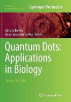 Quantum Dots: Applications in Biology Softcover reprint of the original 2nd ed. 2014