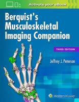 Berquist's Musculoskeletal Imaging Companion 3rd edition