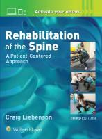 Rehabilitation of the Spine: A Patient-Centered Approach 3rd edition