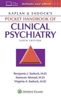 Kaplan & Sadock's Pocket Handbook of Clinical Psychiatry 6th edition