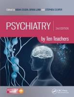 Psychiatry by Ten Teachers, Second Edition 2nd New edition