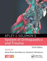 Apley & Solomon's System of Orthopaedics and Trauma 10th Edition 10th New edition