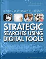 Strategic Searches Using Digital Tools