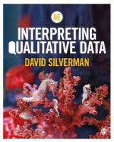Interpreting Qualitative Data 6th Revised edition