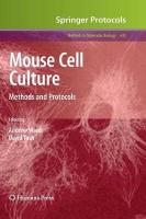 Mouse Cell Culture: Methods and Protocols 2010, Preliminary Entry 2100
