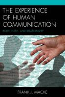 Experience of Human Communication: Body, Flesh, and Relationship