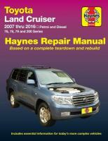 Toyota Land Cruiser Petrol & Diesel Automotive Repair Manual: 2007-2015: 2007-2015, Part 92753