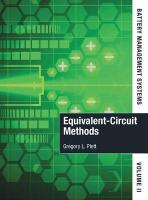 Battery Management Systems 2015 2nd Revised edition, Volume II, Equivalent-Circuit Methods