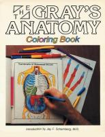 Gray's Anatomy Coloring Book