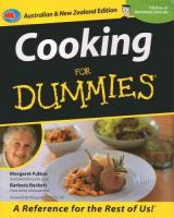 Cooking For Dummies: Australian and New Zealand Edition Australian and New Zealand Edition
