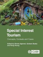 Special Interest Tourism: Concepts, Contexts and Cases