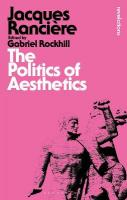 Politics of Aesthetics