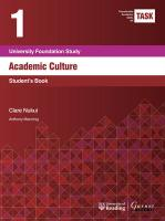 TASK 1 Academic Culture (2015) - Student's Book 2015 2nd edition, Student's Book