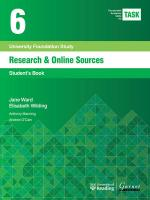 TASK 6 Research & Online Sources (2015) 2015 2nd edition, Student's Book