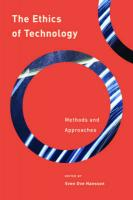 Ethics of Technology: Methods and Approaches