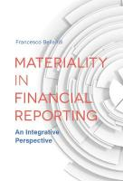 Materiality in Financial Reporting: An Integrative Perspective