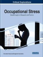 Occupational Stress: Breakthroughs in Research and Practice