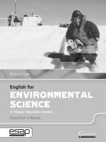 English for Environmental Science Teacher Book Teacher's edition, Teacher's Book