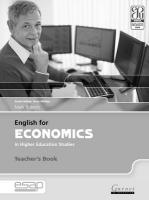 English for Economics in Higher Education Studies Teacher Book Teacher's edition