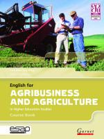 English for Agribusiness and Agriculture in Higher Education Studies -   Course Book with Audio CDs Student edition
