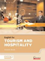 English for Tourism and Hospitality Course Book plus CDs Student edition, Course Book and Audio CDs