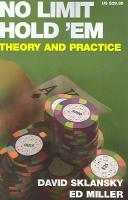 No Limit Hold 'em: Theory and Practice illustrated edition