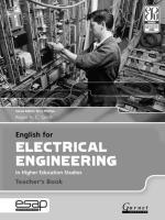 English for Electrical Engineering - Teacher's Book Teacher's edition
