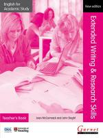 Extended Writing & Research Skills 2012 Teacher's Edition