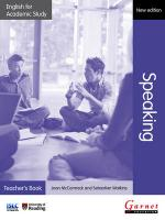 English for Academic Study: Speaking Teacher's Book - Edition 2 2012 2nd edition